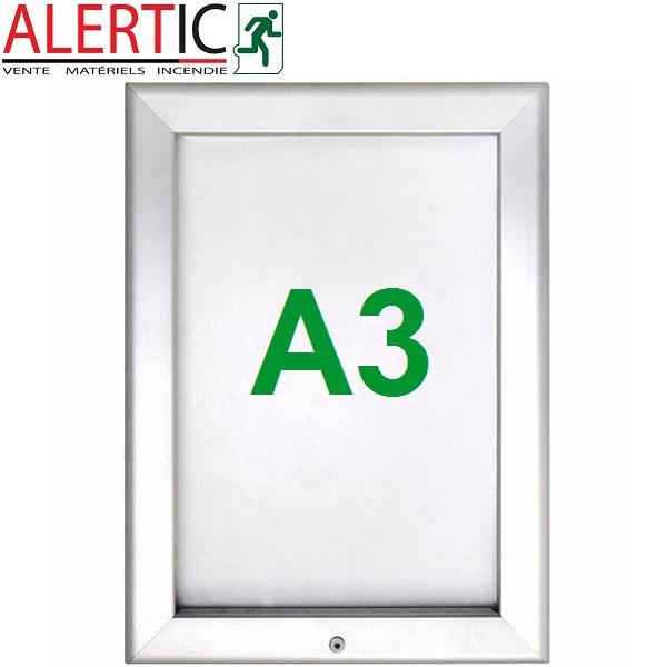 cadre aluminium clic clac verrouillable format a3 alertic. Black Bedroom Furniture Sets. Home Design Ideas