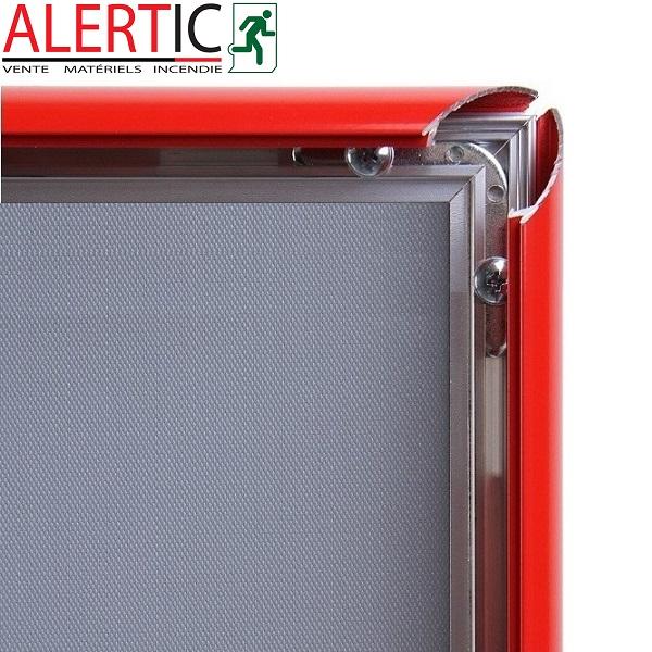 cadre aluminium clic clac rouge pour affiches format a3. Black Bedroom Furniture Sets. Home Design Ideas
